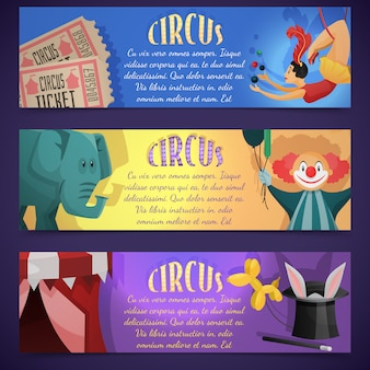 Zirkus-banner horizontal