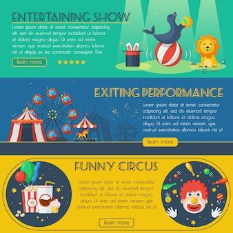 Zirkus-banner-set