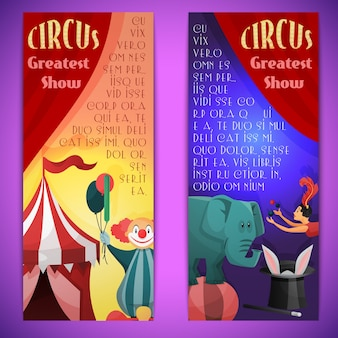 Zirkus banner vertikal