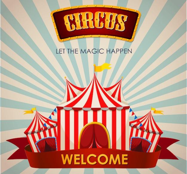 Zirkus, jahrmarkt, vergnügungspark-thema-vorlage