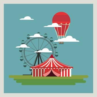 Zirkus karneval design