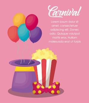 Zirkus karneval infografik