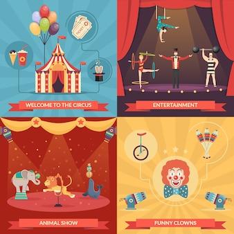 Zirkus show 2x2 konzept