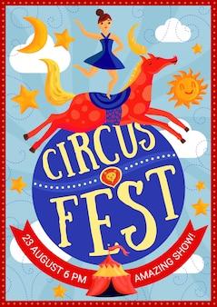 Zirkus-show-plakat