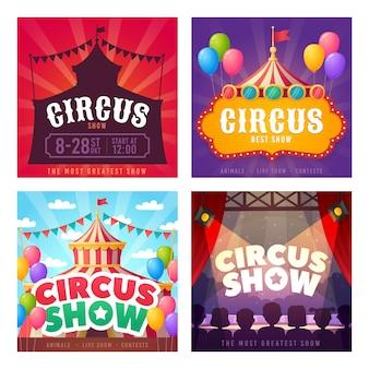 Zirkus social media instagram post vorlage