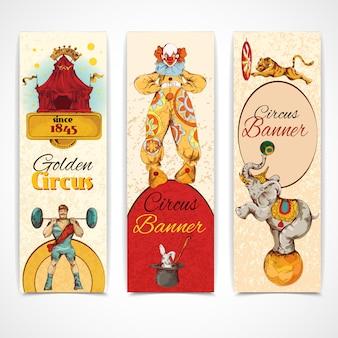 Zirkus vintage banner gesetzt