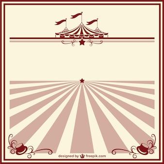 Zirkus vintage poster-vorlage