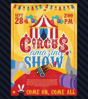 Zirkus vintage poster