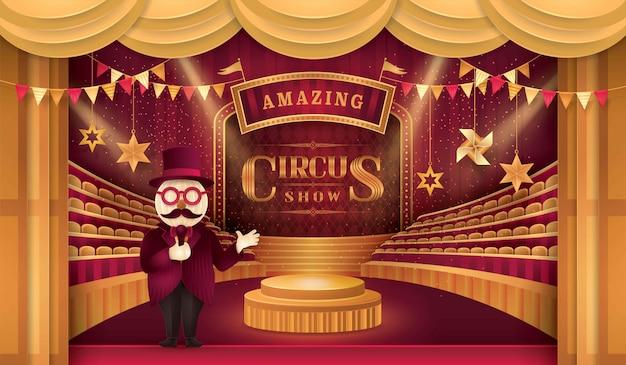 Zirkusarena und stühle