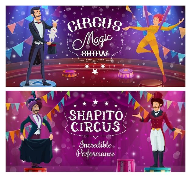 Zirkusartisten, big top show