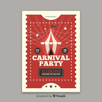 Zirkuskarneval-party-plakat