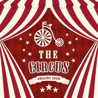 Zirkuskonzept mit karnevalsikonendesign, grafik der vektorillustration 10 env.