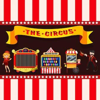 Zirkuskonzept mit ständen