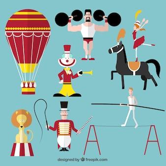 Zirkusvorstellung symbole