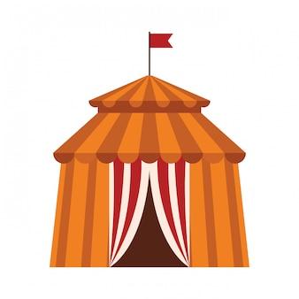 Zirkuszelt-symbol