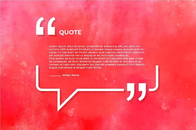 Zitat mit aquarellbeschaffenheitshintergrund