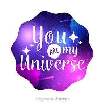 Zitat mit galaxiekonzept