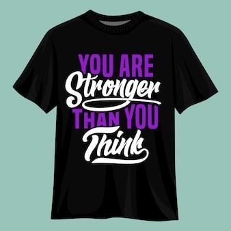 Zitate typografie grafik t-shirt