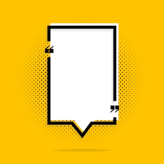 Zitatrahmen auf gelb