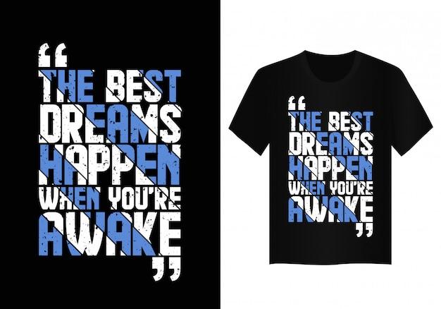 Zitattypographie-t-shirt entwurf
