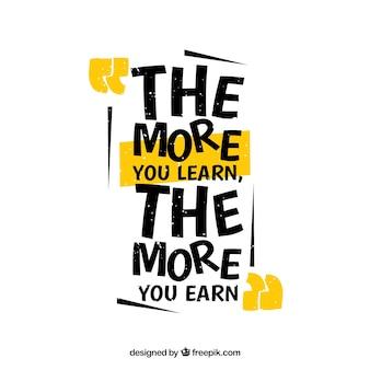 Zitieren hintergrund mit motivierenden nachricht