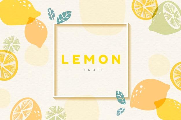Zitrone gemusterten rahmen