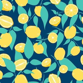 Zitrone nahtlose muster