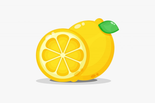 Zitrone und zitronenschnitze