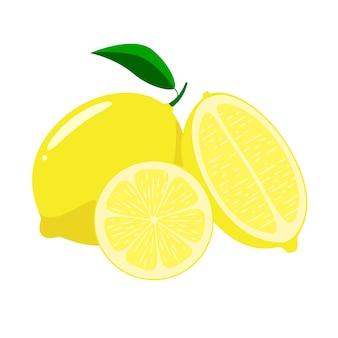 Zitronen auf weißem hintergrund