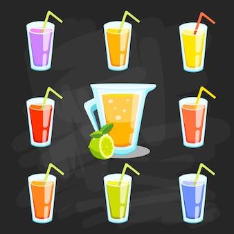 Zitronen-limetten-limonade. limonadengrünabbildung