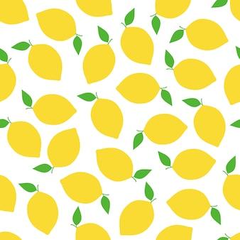 Zitronen-nahtloses muster-hintergrund-vektor-design