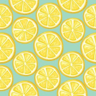 Zitronen nahtloses muster