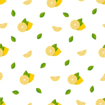 Zitronen nahtloses muster.