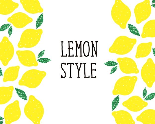 Zitronenartillustration für küche