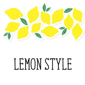 Zitronenartillustrationsminimalismus-gelbküche