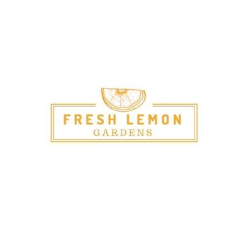 Zitronenfrucht-bauernhof-logo