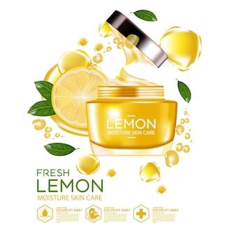 Zitronenfrucht serum feuchtigkeit hautpflege kosmetik