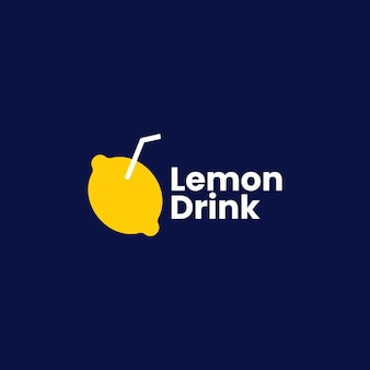 Zitronengetränk logo vektor icon illustration