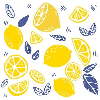 Zitronenmuster