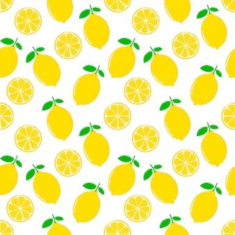 Zitronenscheiben nahtlose muster