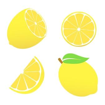 Zitronensymbolzeichen. stil