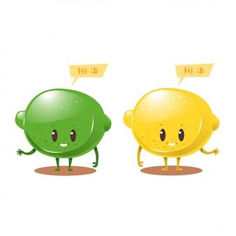 Zitronenzeichentrickfigurendesign