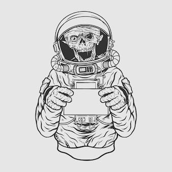 Zombie-astronaut
