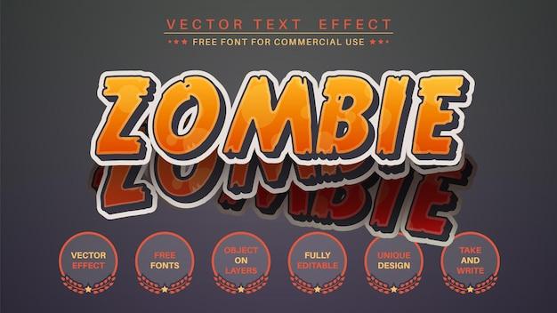 Zombie-aufkleber bearbeiten texteffekt editierbarer schriftstil