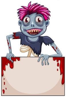 Zombie blank frame-konzept
