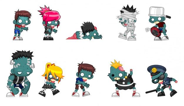Zombie-charakter-illustration