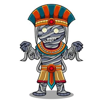Zombie chibi maskottchen logo