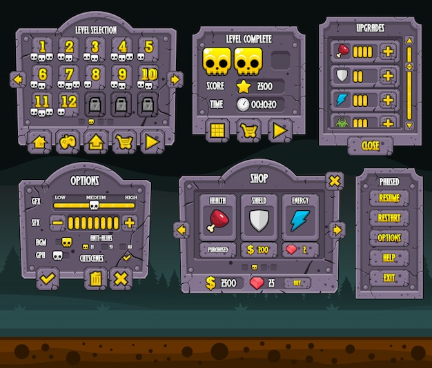 Zombie game gui