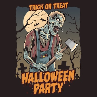 Zombie halloween pary