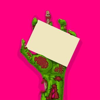 Zombie hand auf rosa